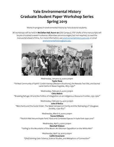 Graduate Student Paper Workshop Series Poster
